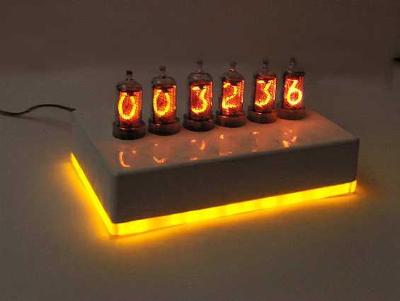 ламповые часы 6 ламп nixie clock сделано в России.